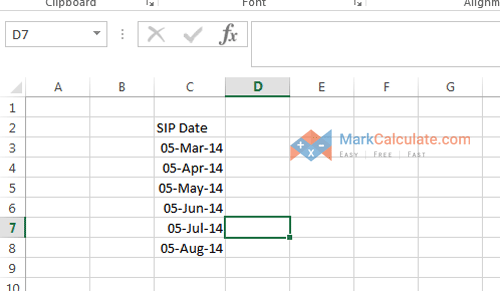 how to calculate sip manually - Step 1